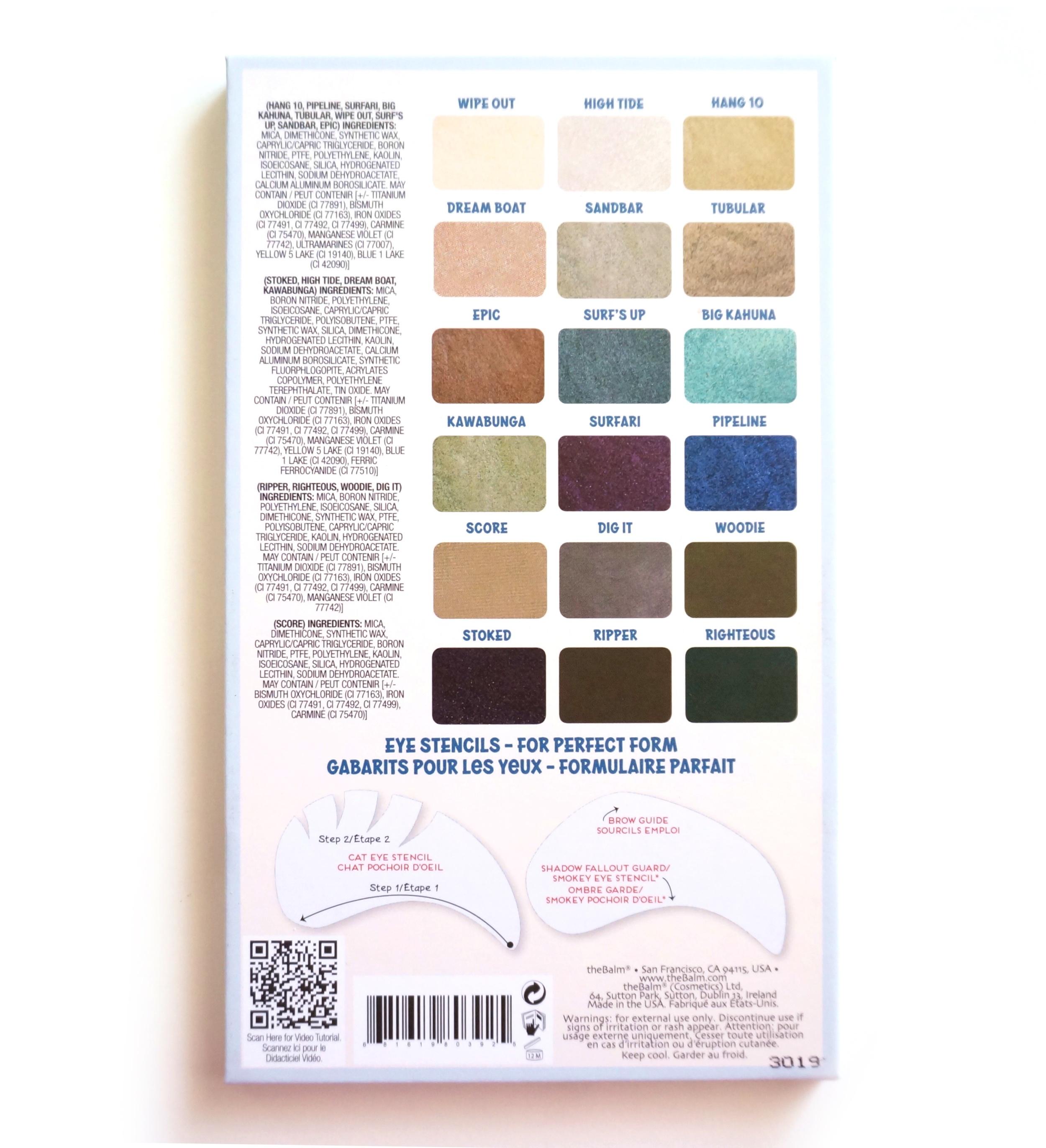 TheBalm Balmsai Palette Swatches