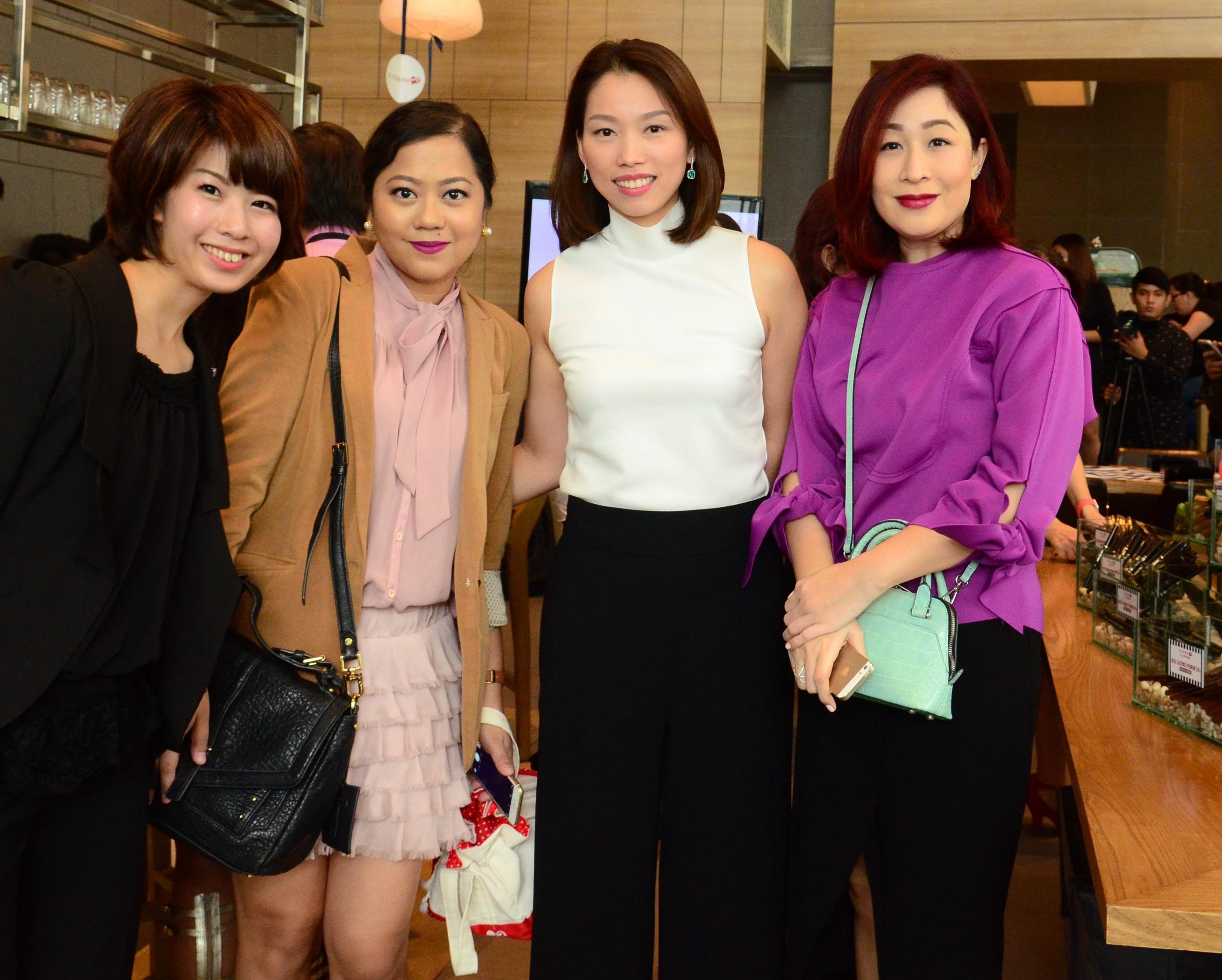Left to right: Yuko Kameyama, myself, Cheryl Tan-Chua, Agoo Bengzon