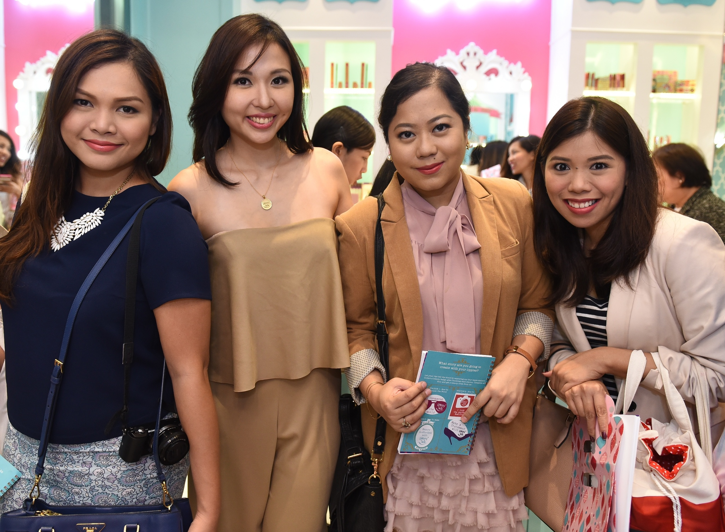 I got to visit with my fave bloggers Martha and Donna, with Happy Skin co-founder Jacqe Yuengtian-Gutierrez