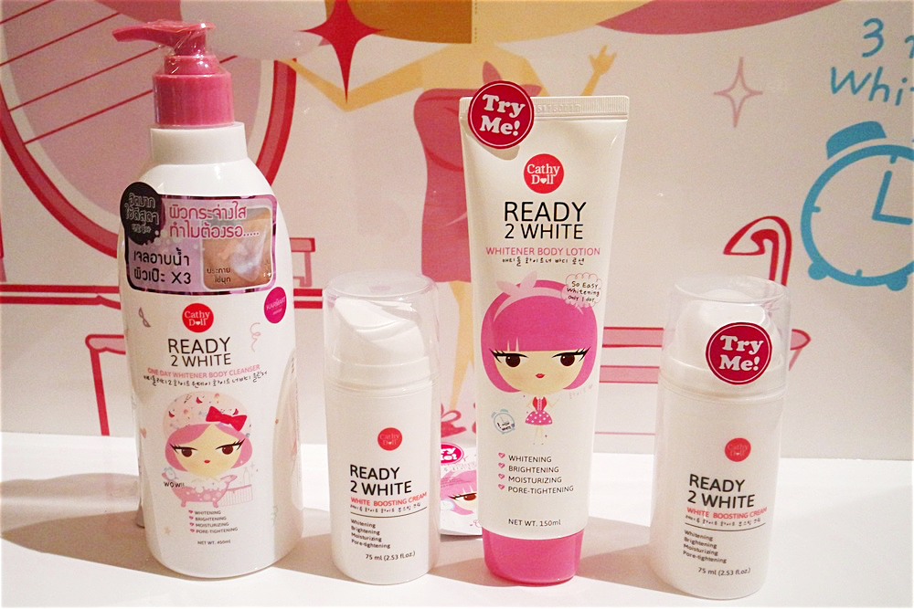 The Ready 2 White Line: One Day Whitener Body Cleanser, Boosting Cream, and One Day Whitener Body Lotion