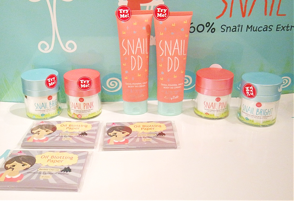 Snail Bright Whitening Cream, Snail Pink Pore Reducing Serum, Mineral Drop Snail DD Cream