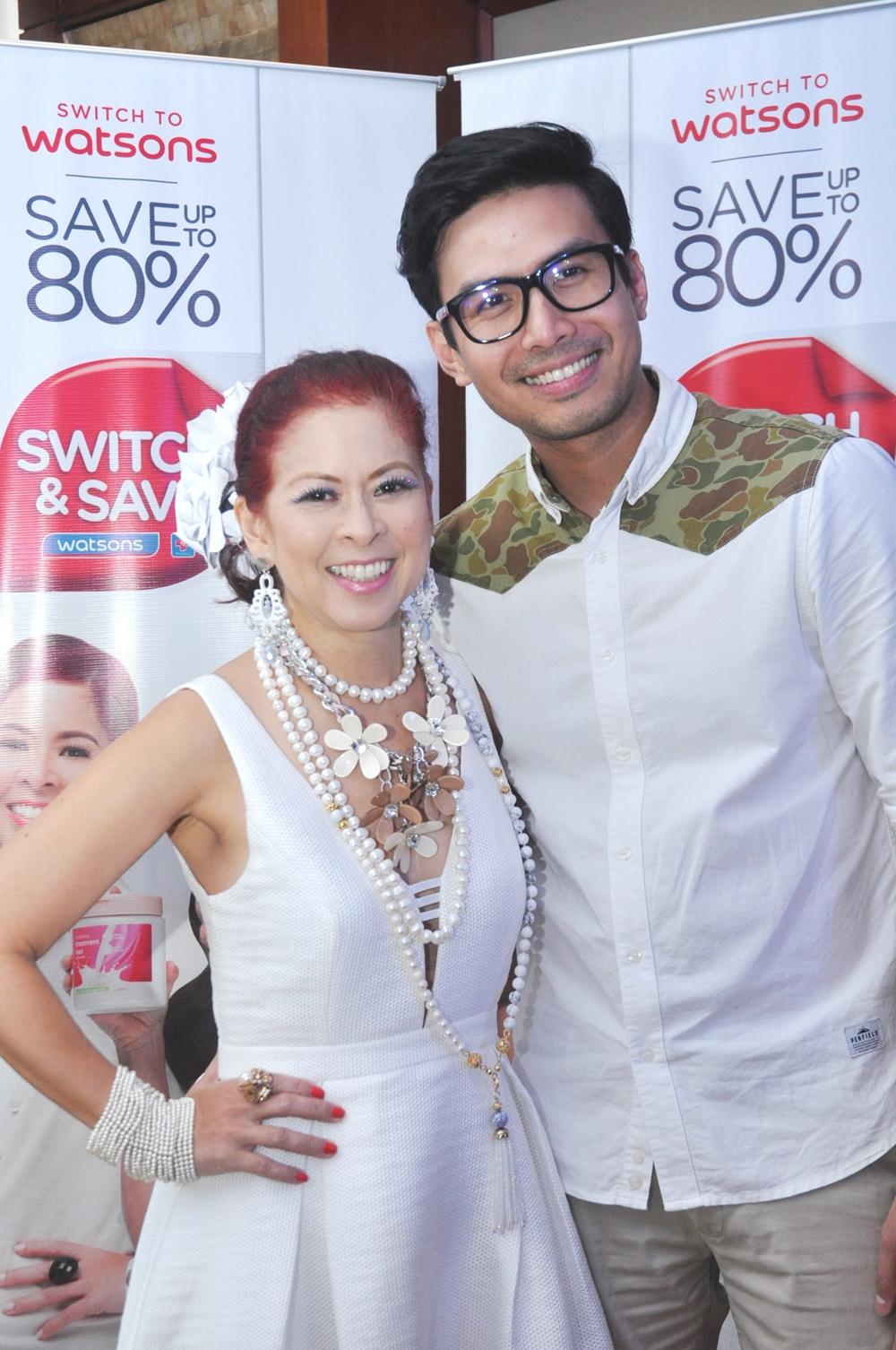 Watsons Brand Ambassadors Tessa Prieto-Valdez and Christian Bautista