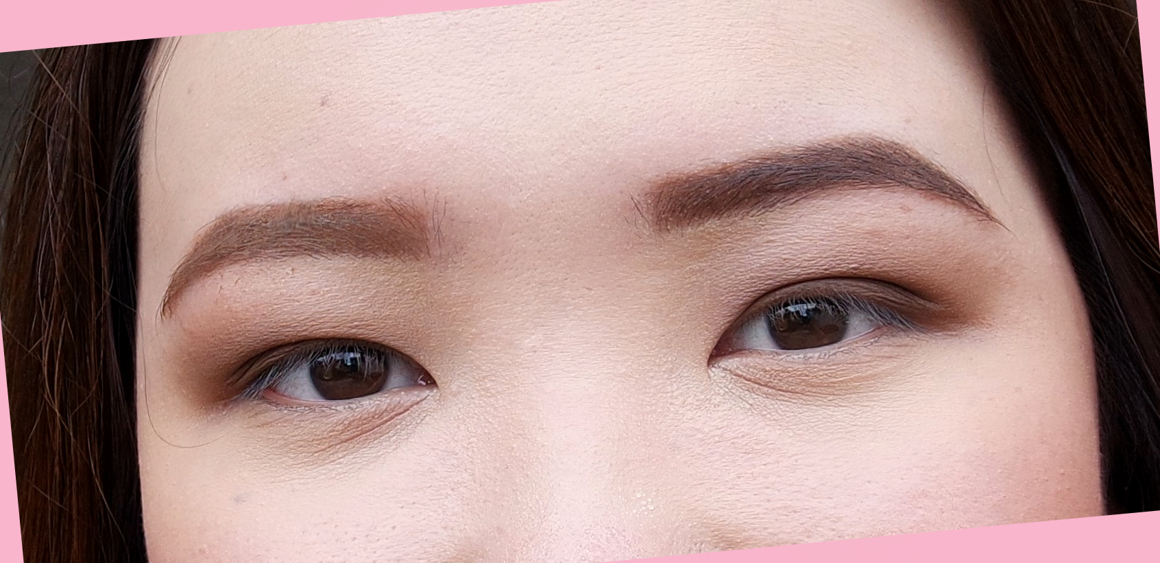 My right brow looks lighter and not as severe as the one on the left