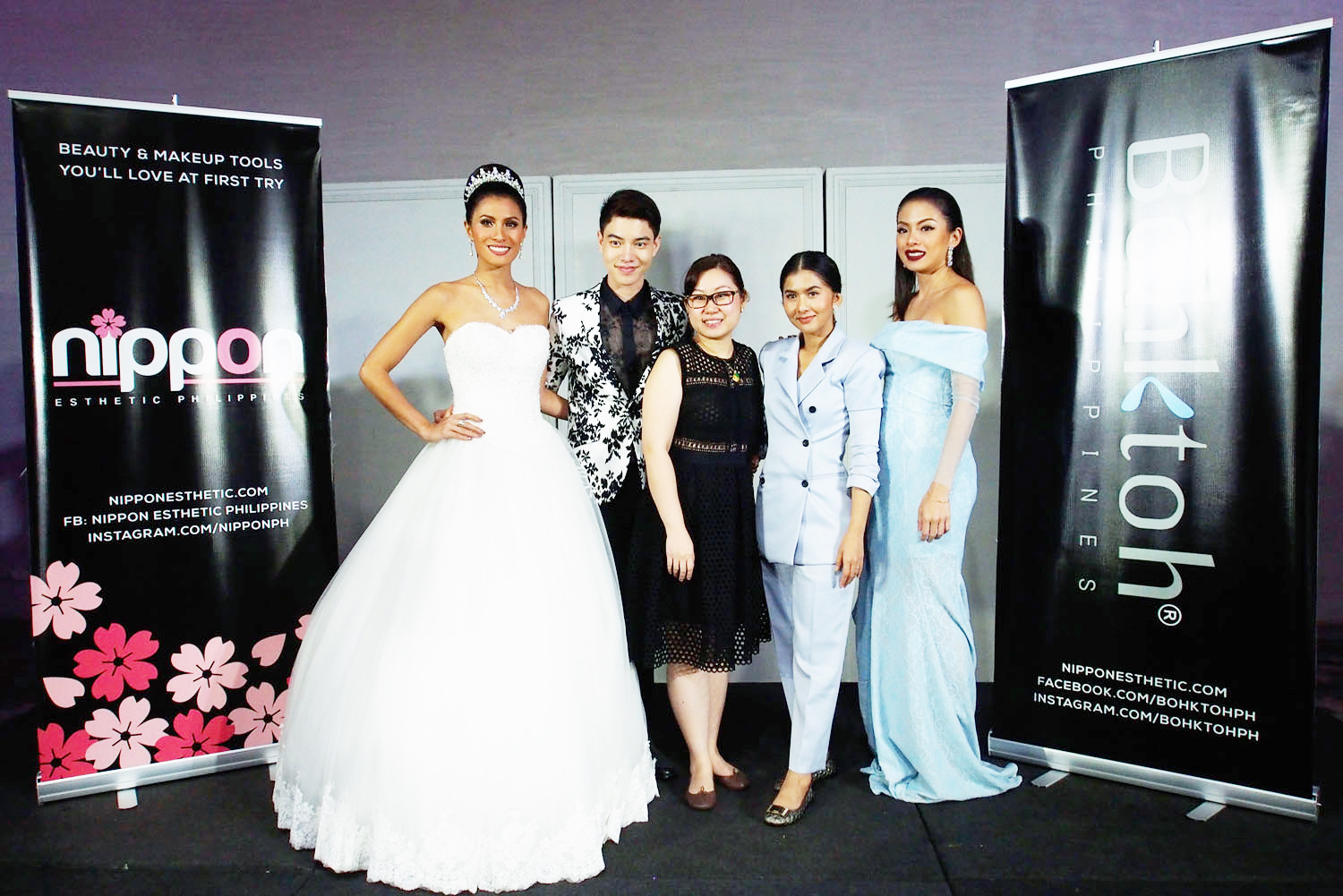 Lia Andrea Ramos, Nongchat, Nippon Esthetic Philippines CEO Sydney Go, Bohktoh Lashes CEO Prang,and Angela See