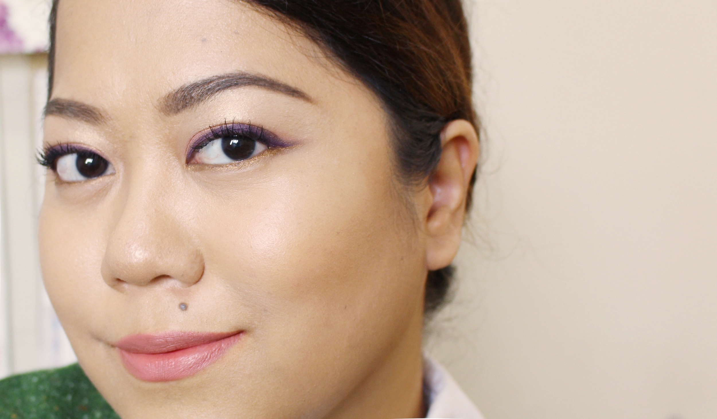 In this look, I am wearing M-80 on my upper lids and ME-42 on my waterline. Such a pretty combo!