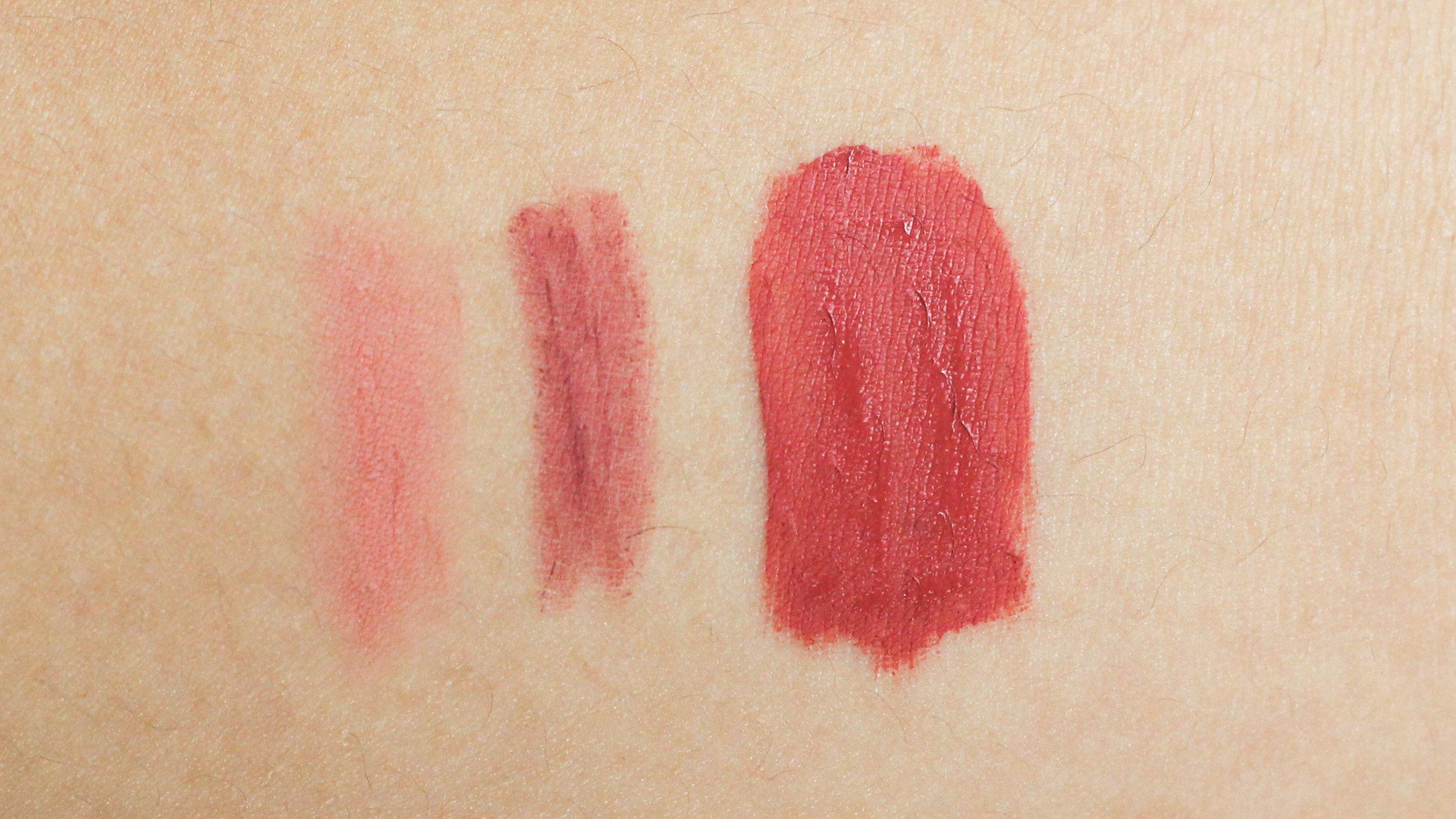 Make Up For Ever Aqua Lip,Happy Skin Shut Up & Kiss Me Moisturizing Matte Lip Liner in First Date,Rire Lip Manicure in Pink Brown