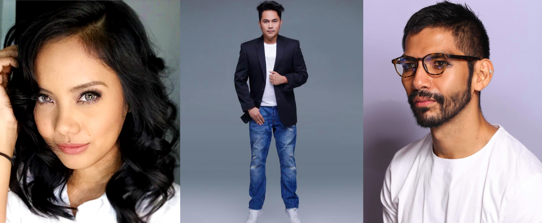 Makeup masters: Anthea Bueno, Owen Sarmiento, and Jigs Mayuga