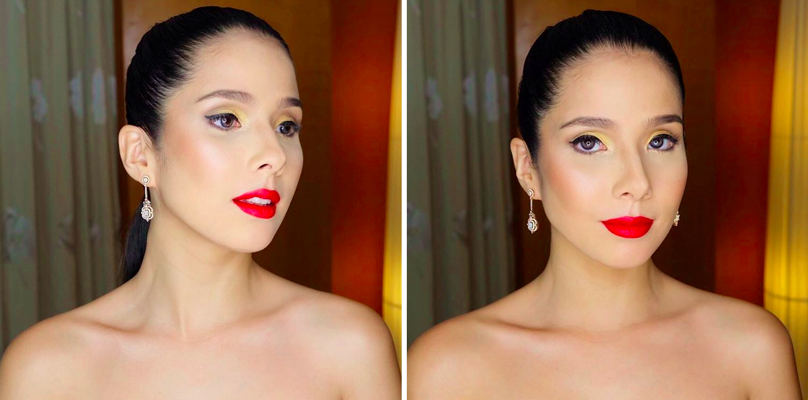 Jigs' perfect cat eye look on Maxene Magalona / image via @jigsmayuga on Instagram