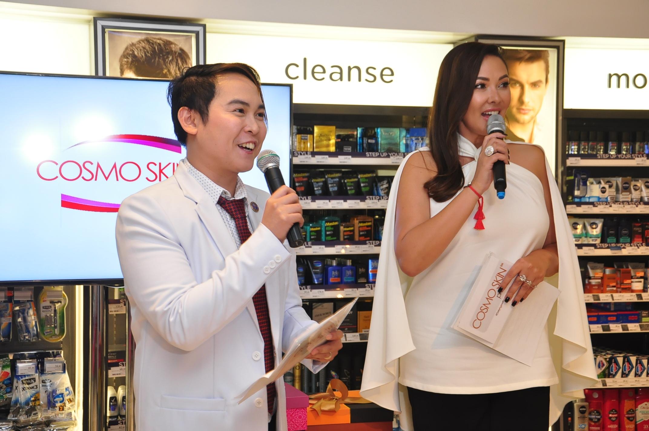 Cosmo Skin founder and marketing director Dr. Nino Bautista and brand endorser Ruffa Gutierrez