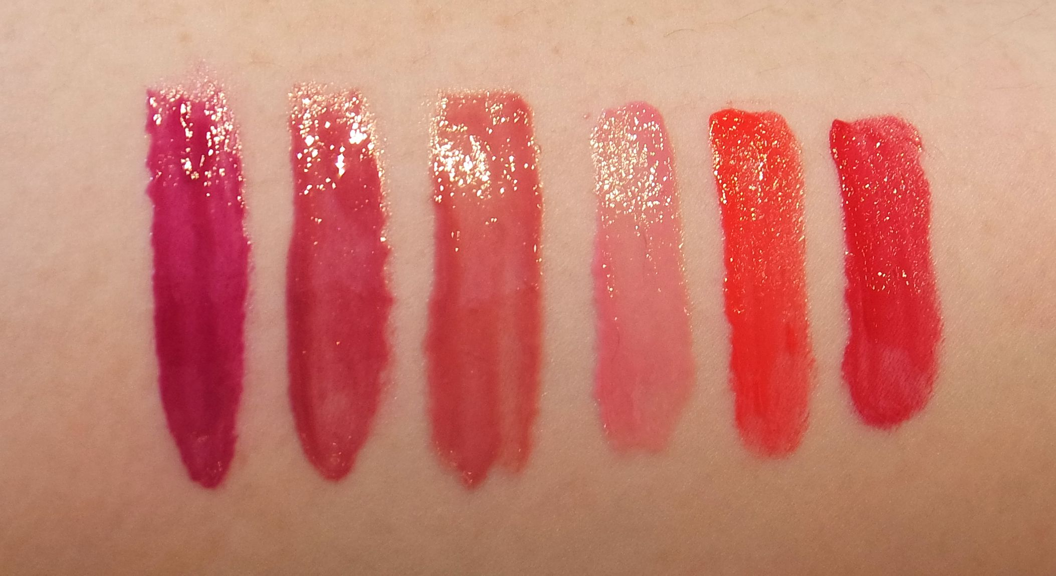 From left:Peace Pop, Love Pop, Cocoa Pop, Wink Pop, Happy Pop, and Lava Pop