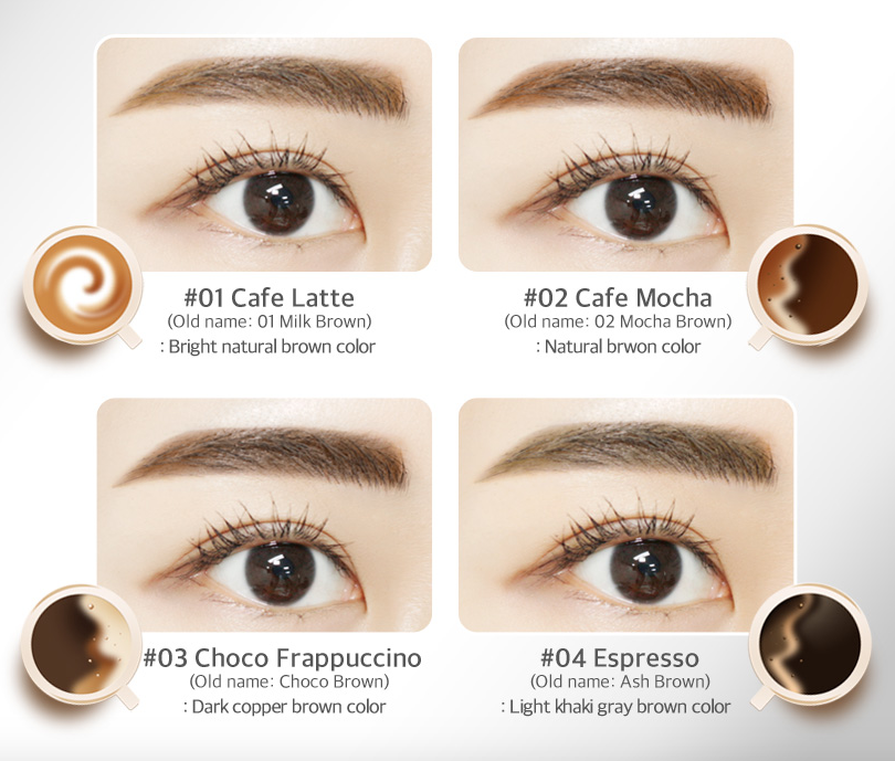 This color chart seems to be pretty accurate, at least based on the Choco Frappuccino I have. It's a warm brown that suits brunettes.
