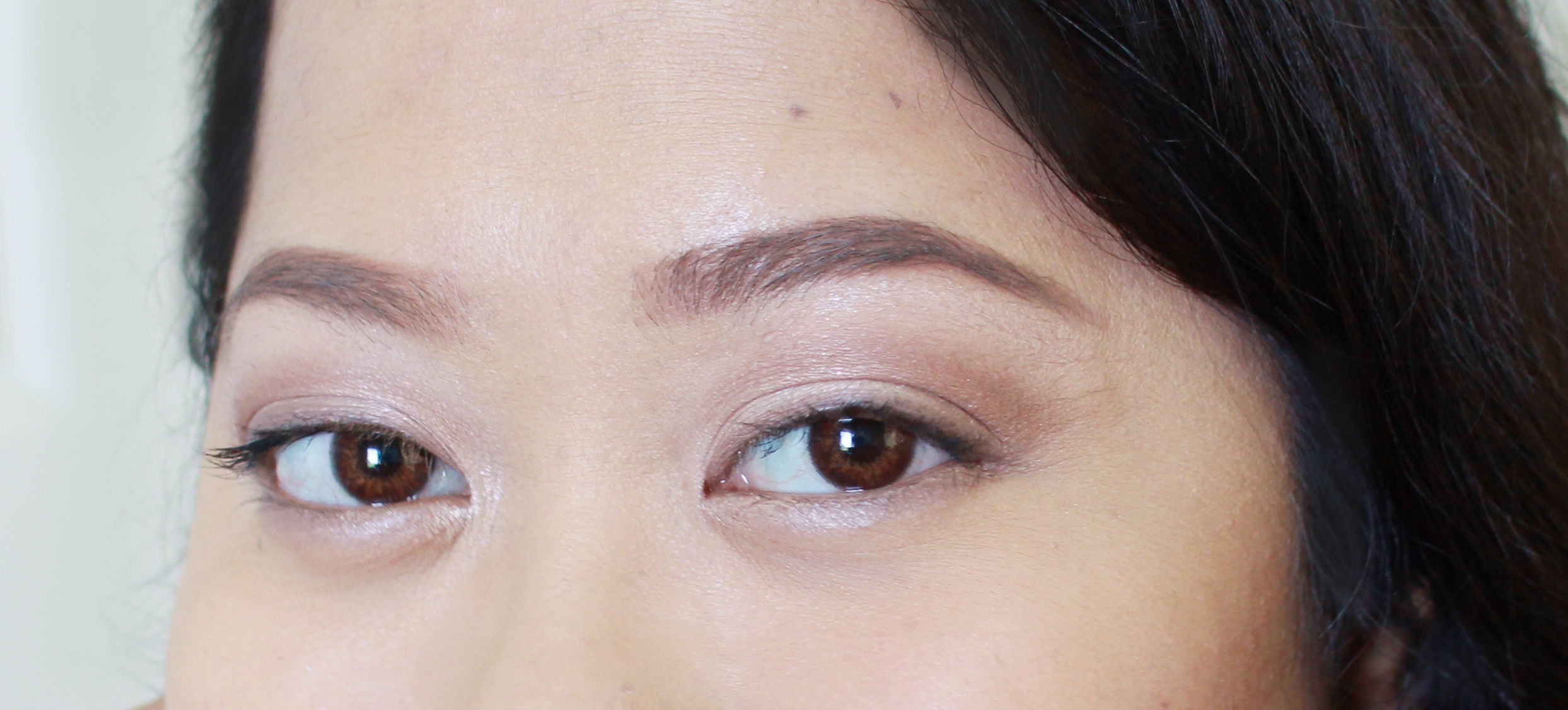 Wearing Light to map out the brows, then stamped on Medium in a few strategic places to create dimension