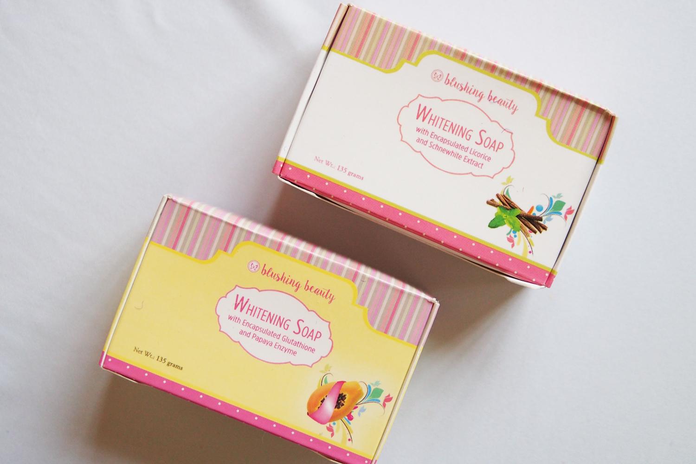Blushing Beauty Whitening Soaps (P150 each)
