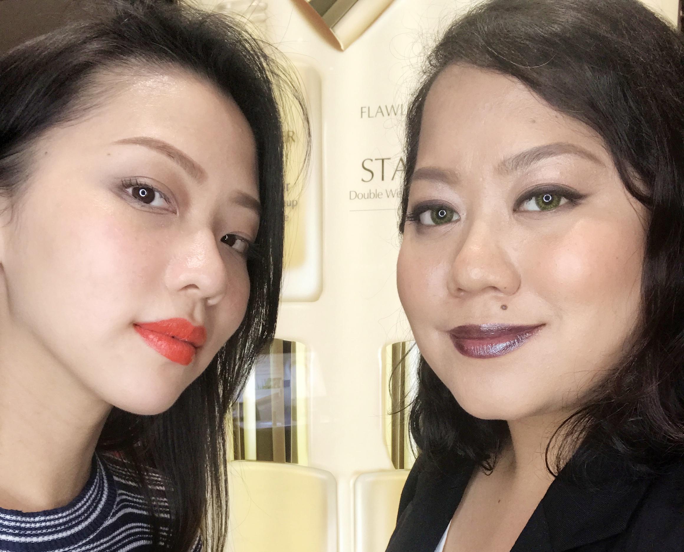 PV Writer Kristel wearing Hot Rumor while our Editor Liz is wearing Moon Rock