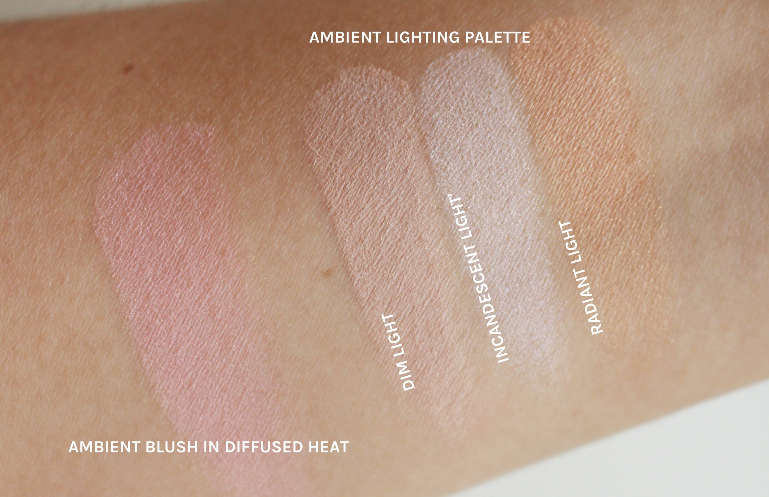 The swatches don't look much, but they're magic on skin