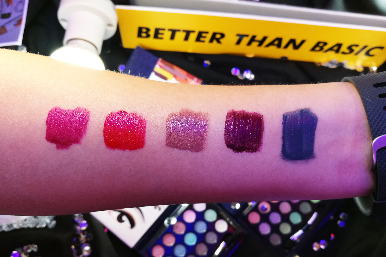 From left, some of the Mattes:Pop, In Bloom, Normcore, Upper Hand, Wall Flower