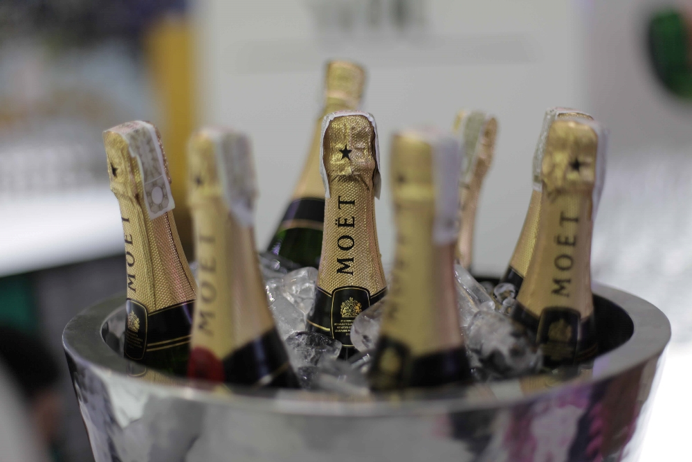 Guests were treated to champagne from Moët & Chandon