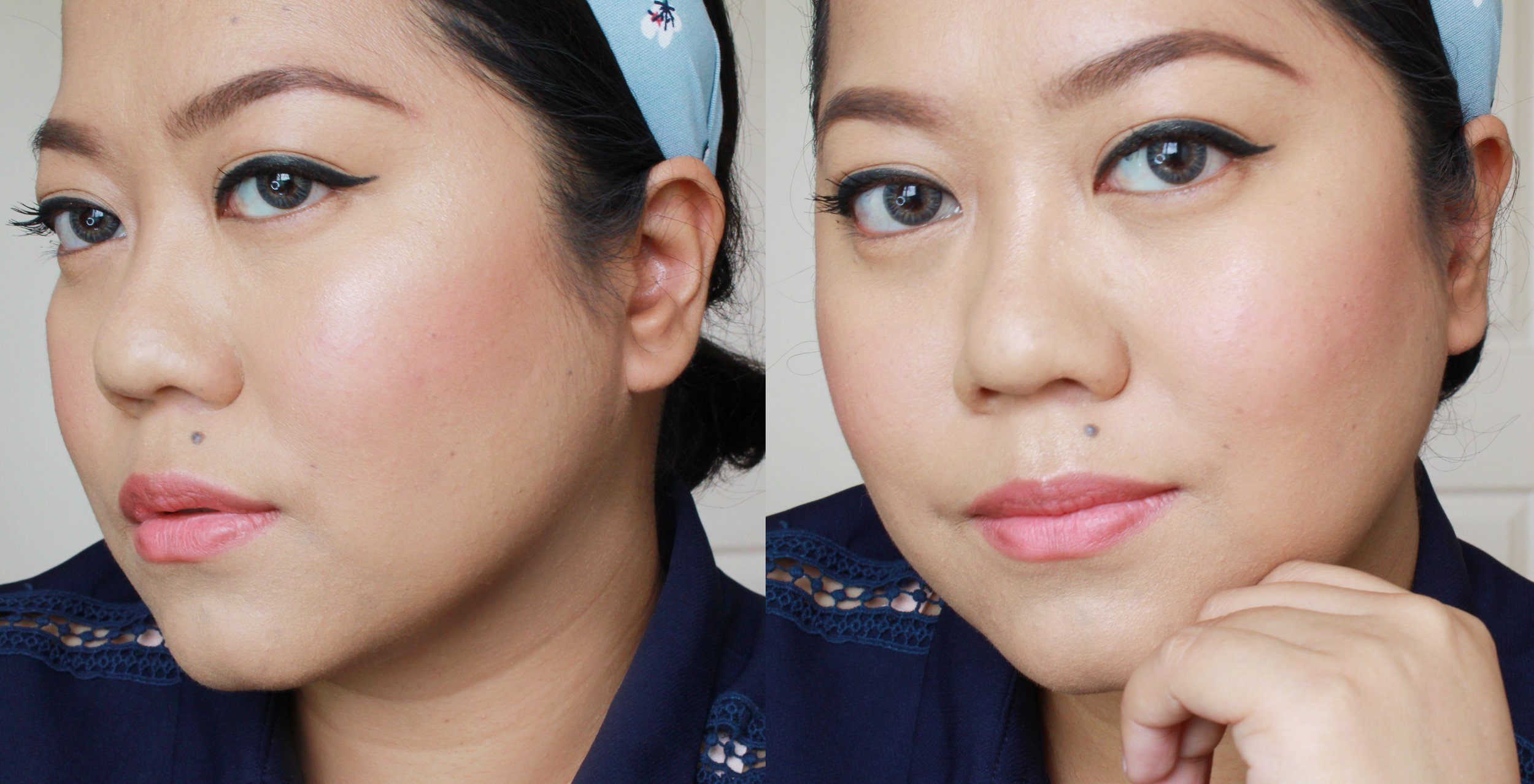 Using the   Inglot AMC Face Blush  in 93 and  Face and Body Illuminator in 69