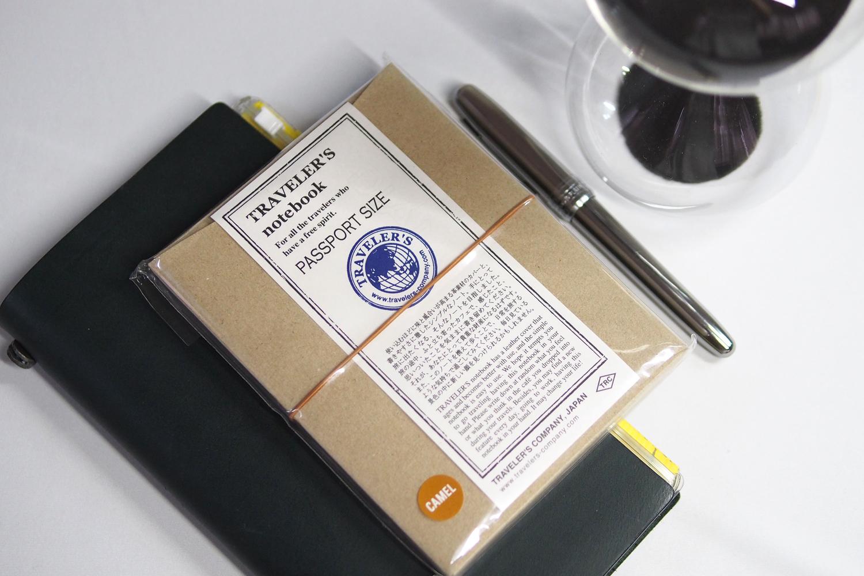 From left: Traveler's Notebook Regular Size (P2,195), Traveler's Notebook Passport Size (P1,995), Platinum Plaisir Fountain Pen in Gunmetal (P695), Hightide 30 mins. Sandglass (P1,125)