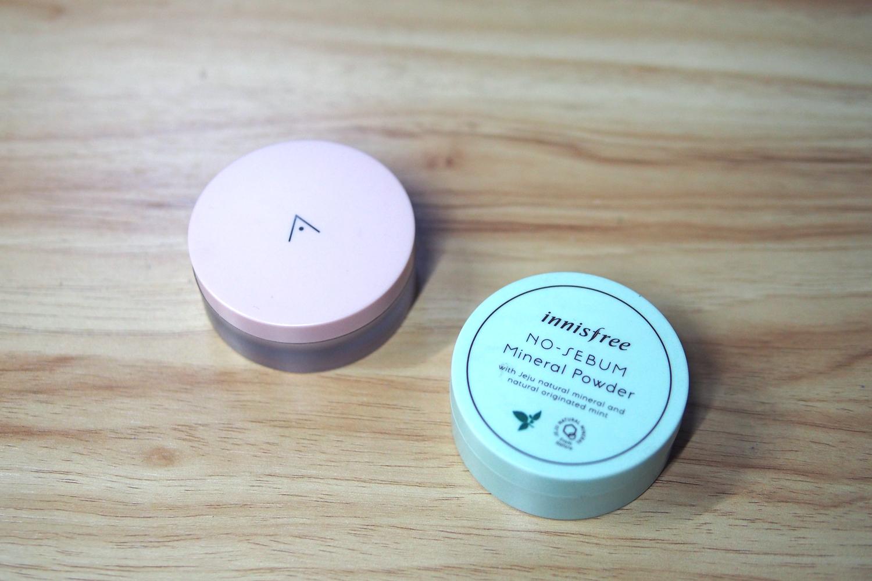 Althea Petal Velvet Powder (P210), Innisfree No Sebum Mineral Powder (P360)