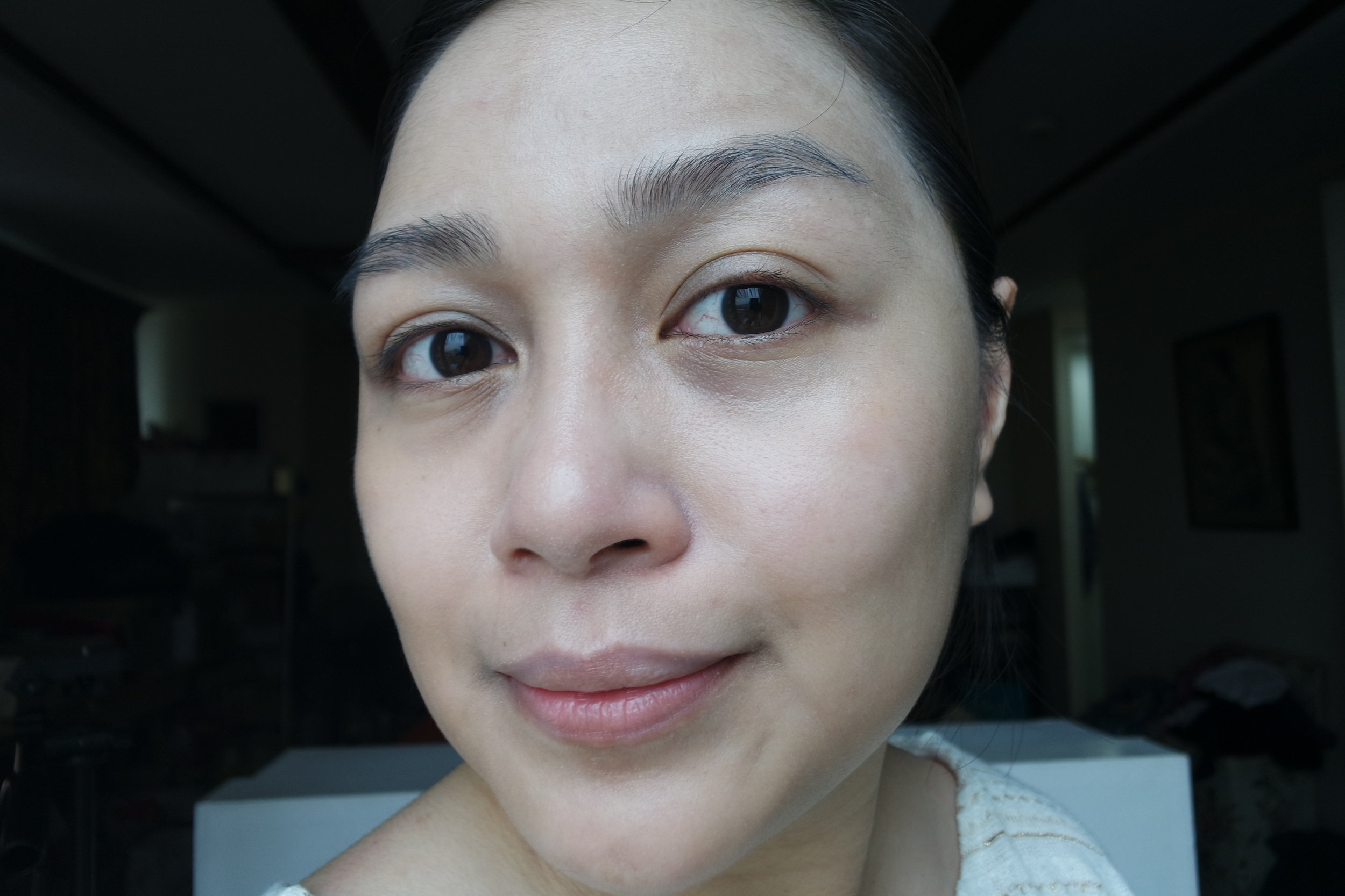Wearing the White Regeneration Colour Change Nude Cream in Ivory