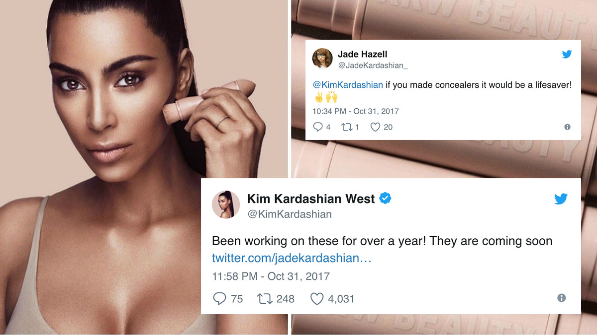 Images via Teen Vogue and Twitter user @KimKardashian