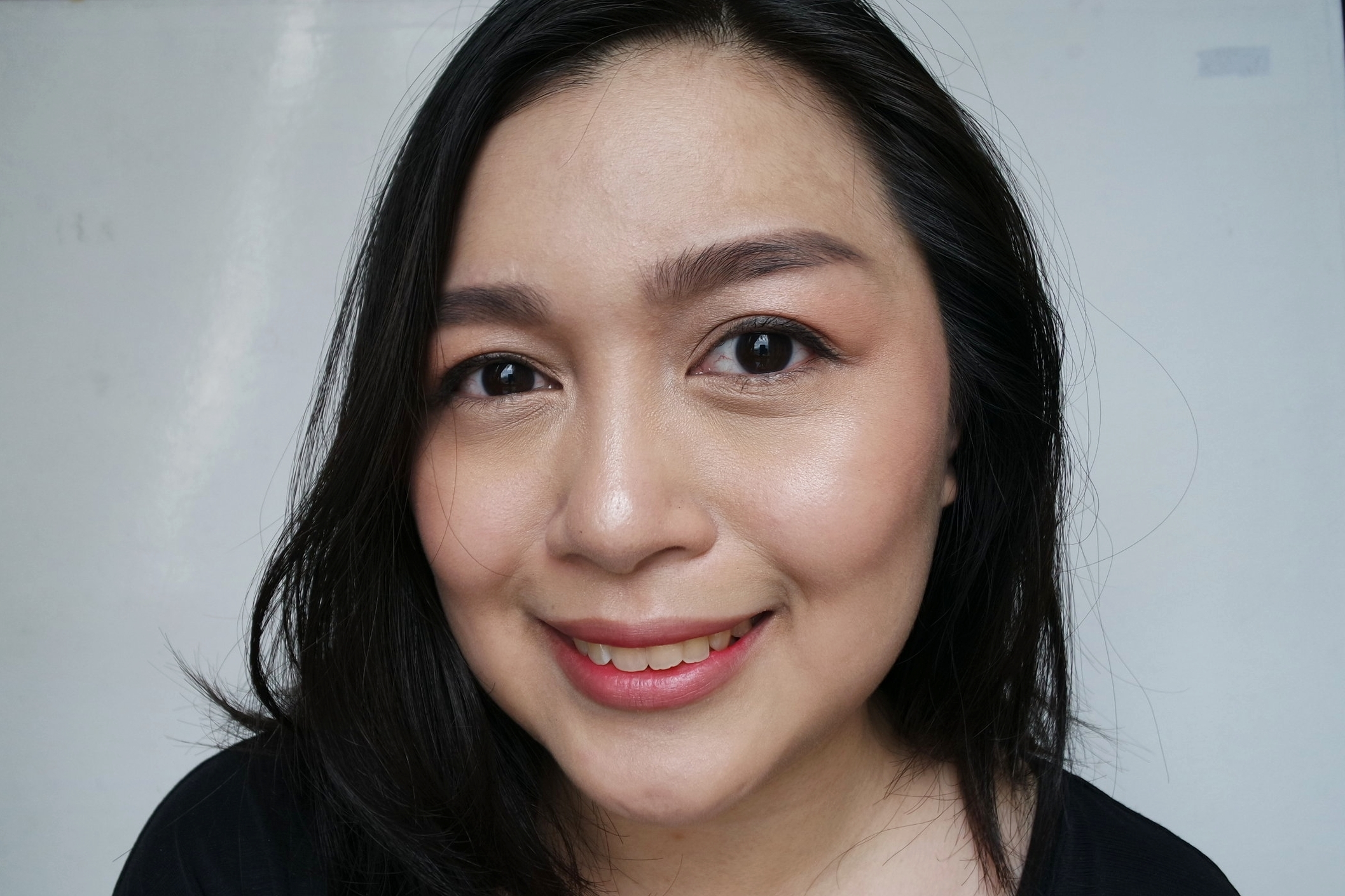 The finished look: glowy skin and minimal makeup, inspired by Kpop stars!