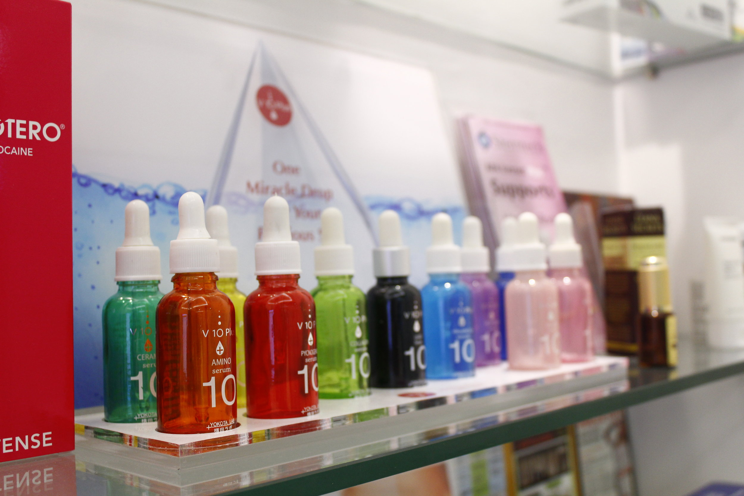 Serums are recommended for aftercare