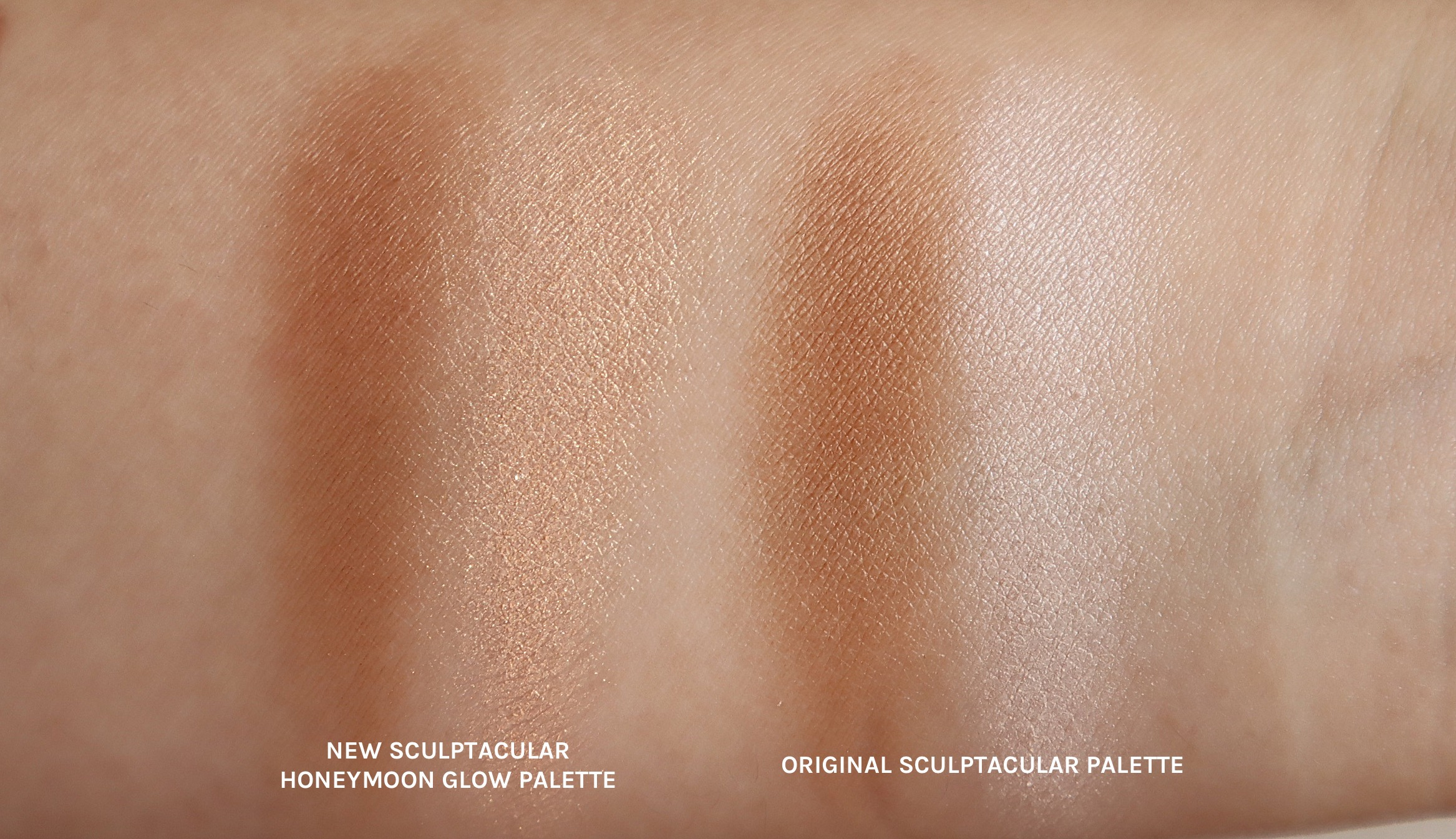 The contour shade is still the same but the highlighter has changed