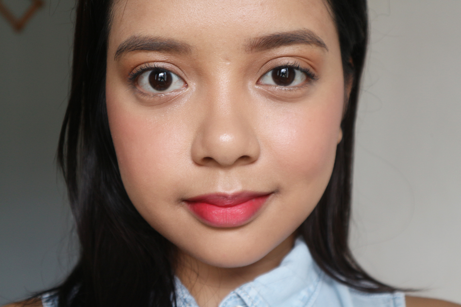Makeup look using the Cream Cheek Tint in  04 Plum Cherry  and the Lip Tint Matte in  02 Red