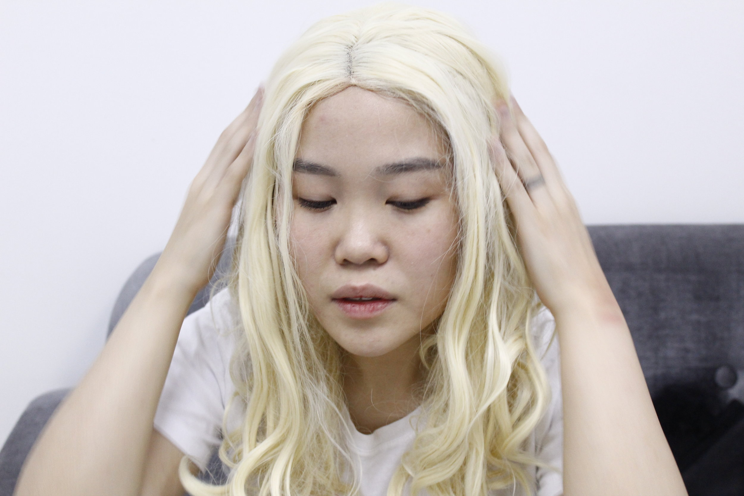Blink and this lace-front wig will convince you that I am Khaleesi