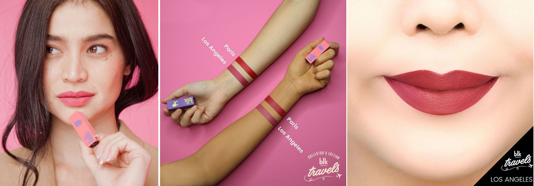 These are all swatches of Los Angeles, as displayed on blk's site and social media