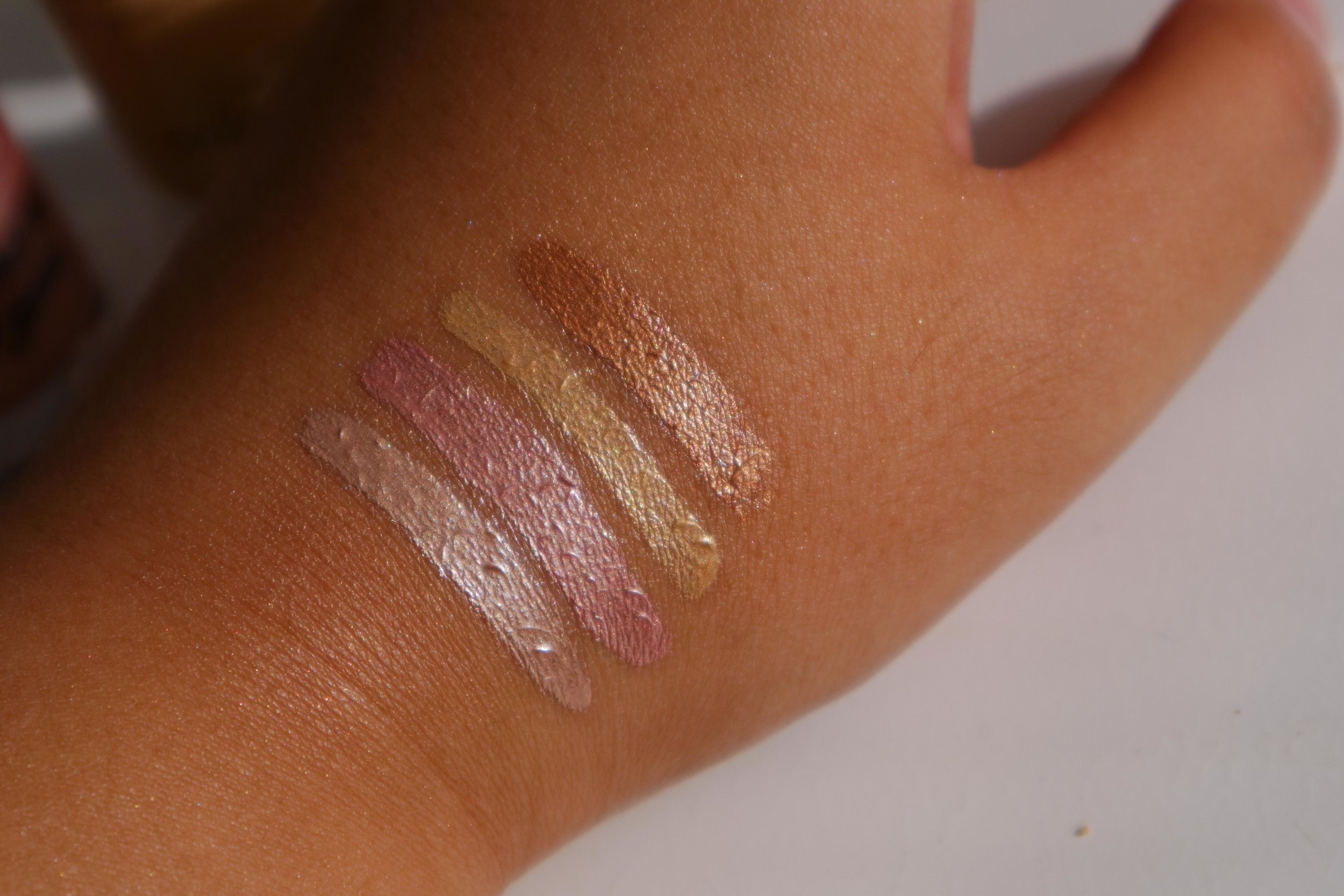 Swatches, from left: Crystal Prism, Rose Quartz, Yellow Diamond, Tiger's Eye