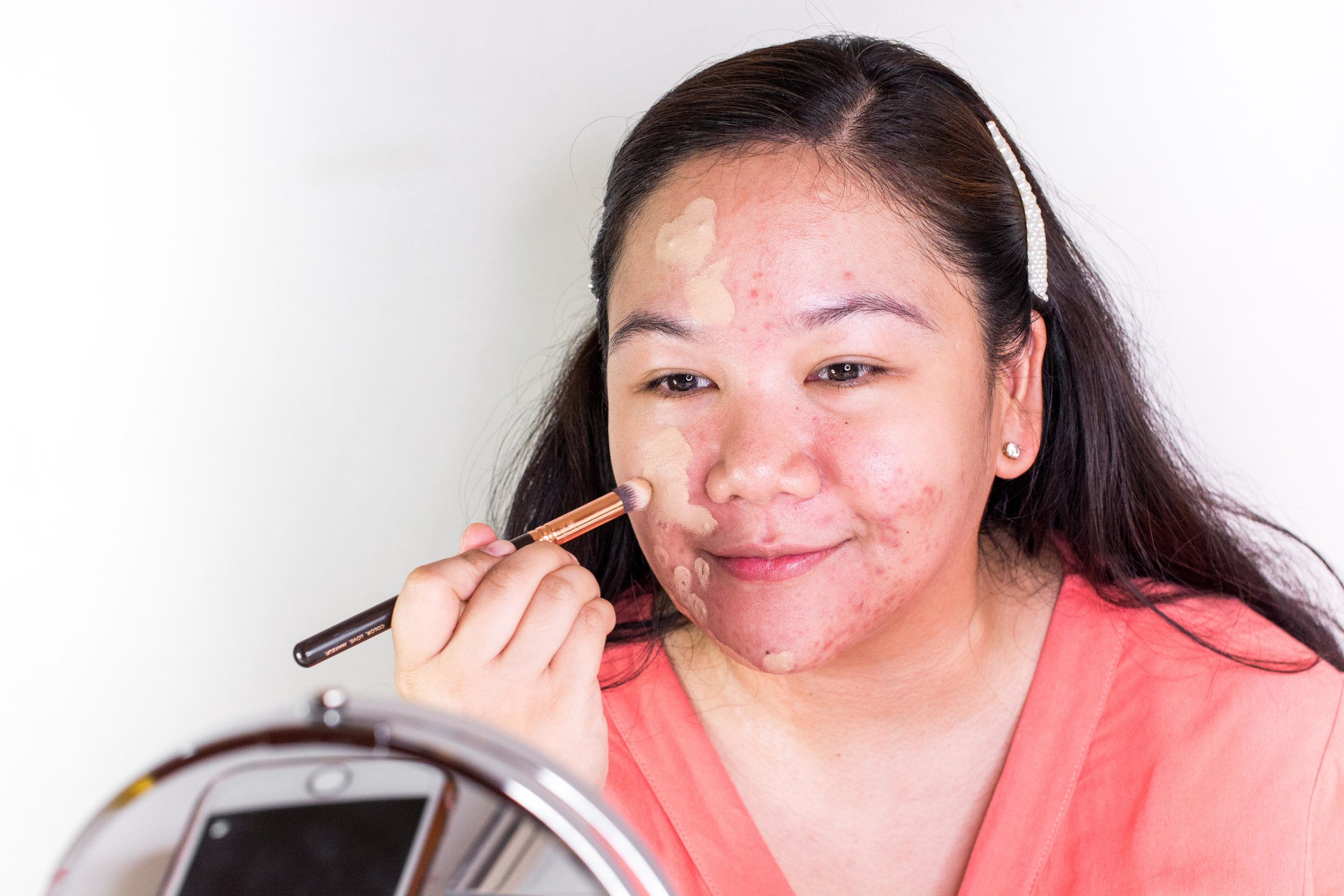 Blend, blend, blend with my Zoeva Concealer Buffer Brush
