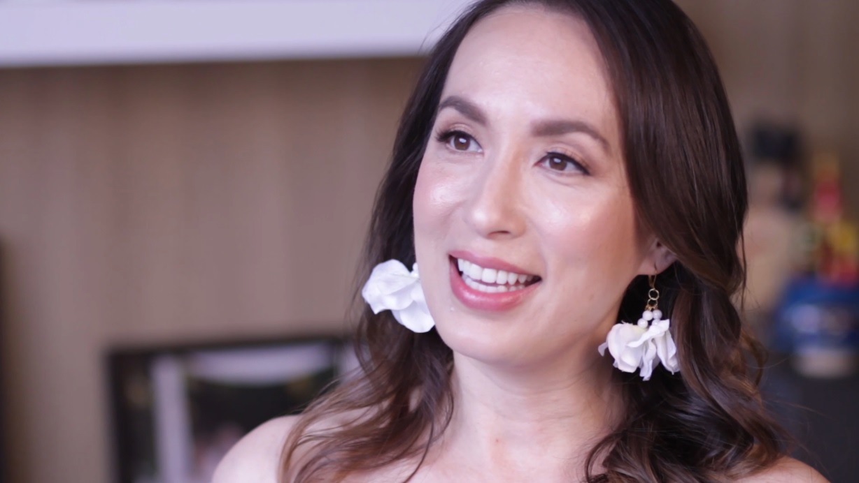 Joy Tanchi-Mendoza wearing HHN Made to Bloom Lipstick in  Joy