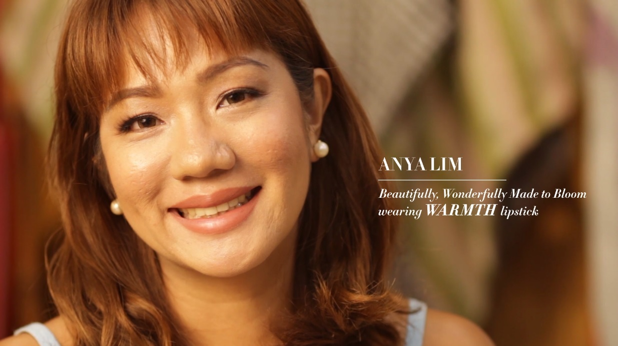Anya Lim wearing HHN Made to Bloom Lipstick in  Warmth