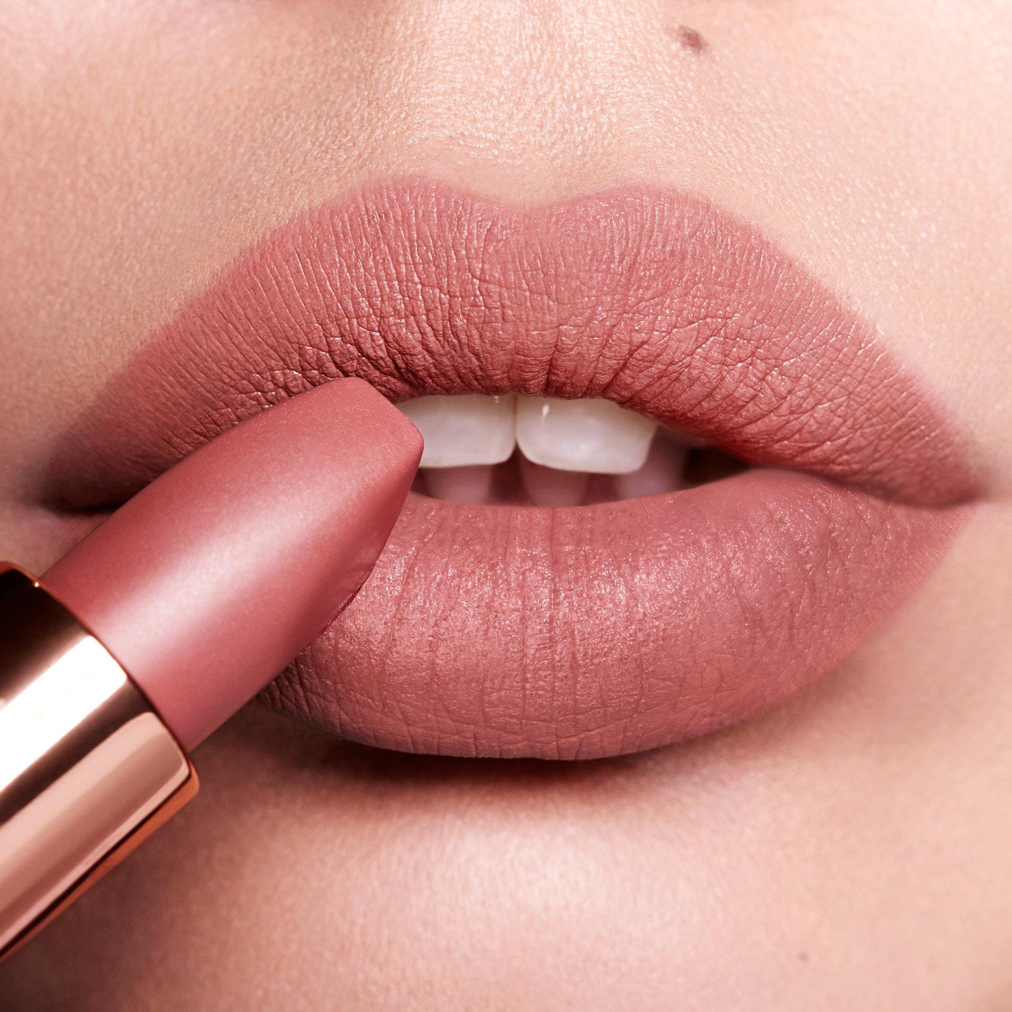 Charlotte Tilbury Matte Revolution Lipstick in Pillow Talk (Image via Sephora)