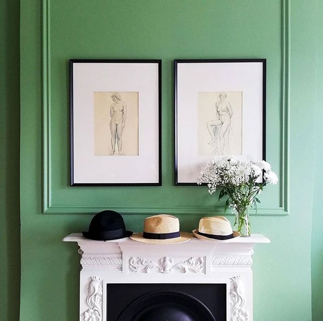 Spare #bedroommakeover thanks to @acres_hall . A new paint company from my beautiful home town Tullamore. Home of @tullamoredew Historical architecture from the famous #francisjohnstonarchitect and of course our stunning @charlevillecastle The Acres Hall paint company was inspiring to work with. Ciara their talented and insightful colour consultant helped me select this colour which wasn't an easy task. I already had green curtains and a blue bed so it was important to get the shade just right. The coverage made the job a lot easier. Thanks to Justin for organising everything and for the very kind blog post about our home on their new website. I can't wait to try out some new shades for my next project very soon. 🌿👌❤️ . . . . . . . . #acreshall #irishpaint #irishdecorators #greenbedroom #bedroommakeover #georgiangreen #georgianbedroom #periodproperty #periodrestoration #restorationproject #heritagepaint #tullamore