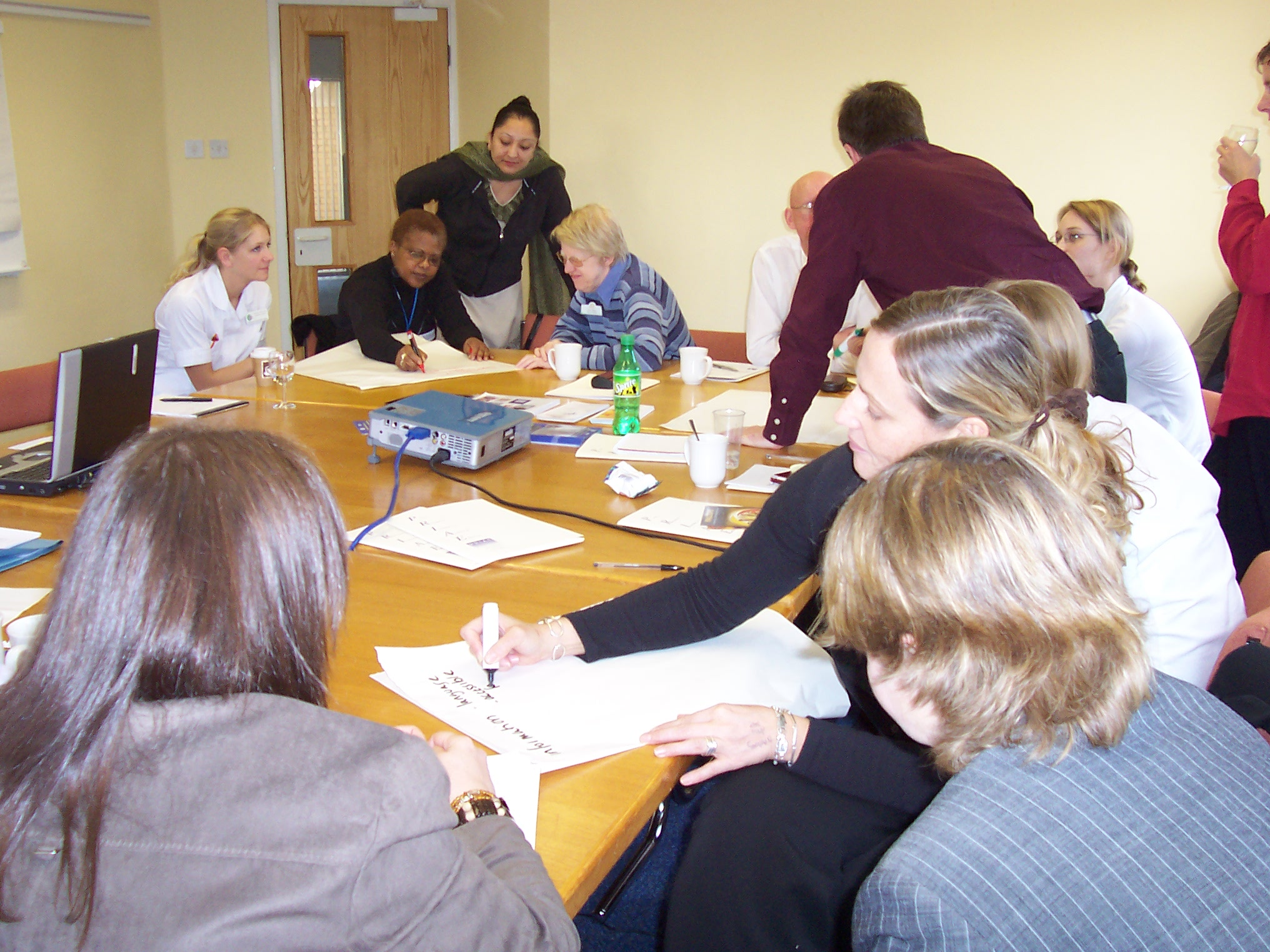 A busy workshop in palliative care on stories