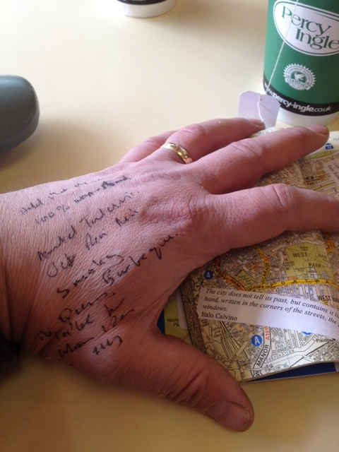 Les Back's ethnographic hand as notebook