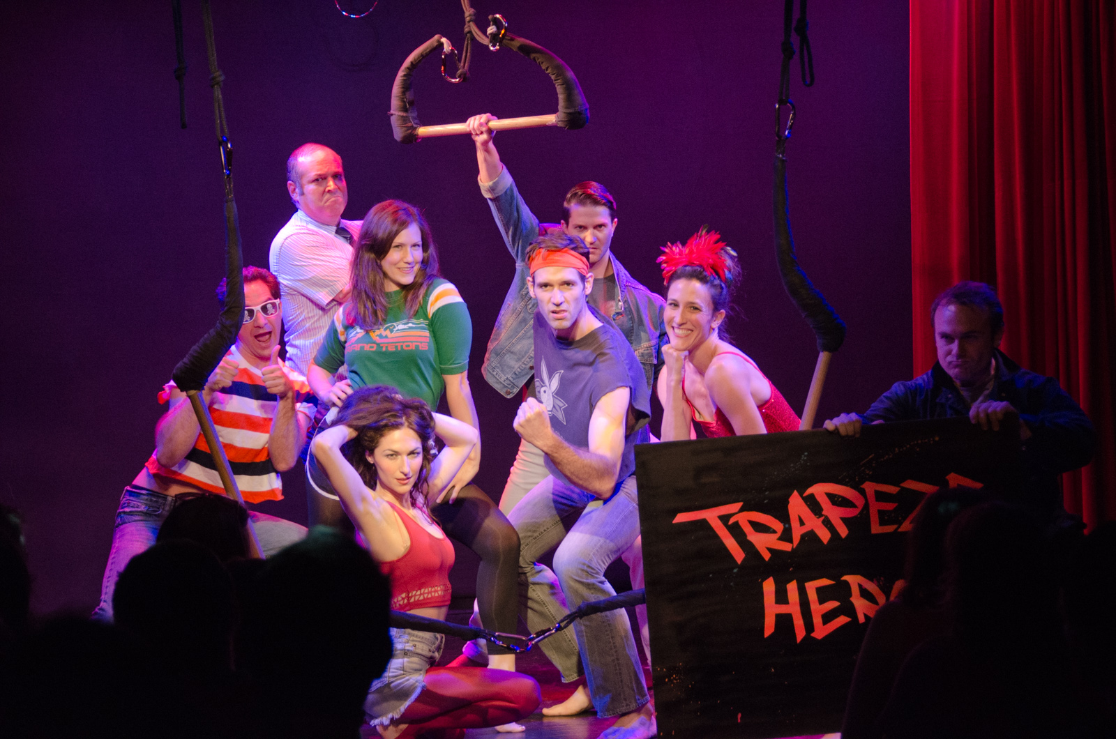 The cast of Trapeze Hero!   photo by Marielle Solan