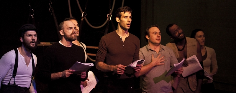 The crew of the Pequod in Moby-Dick