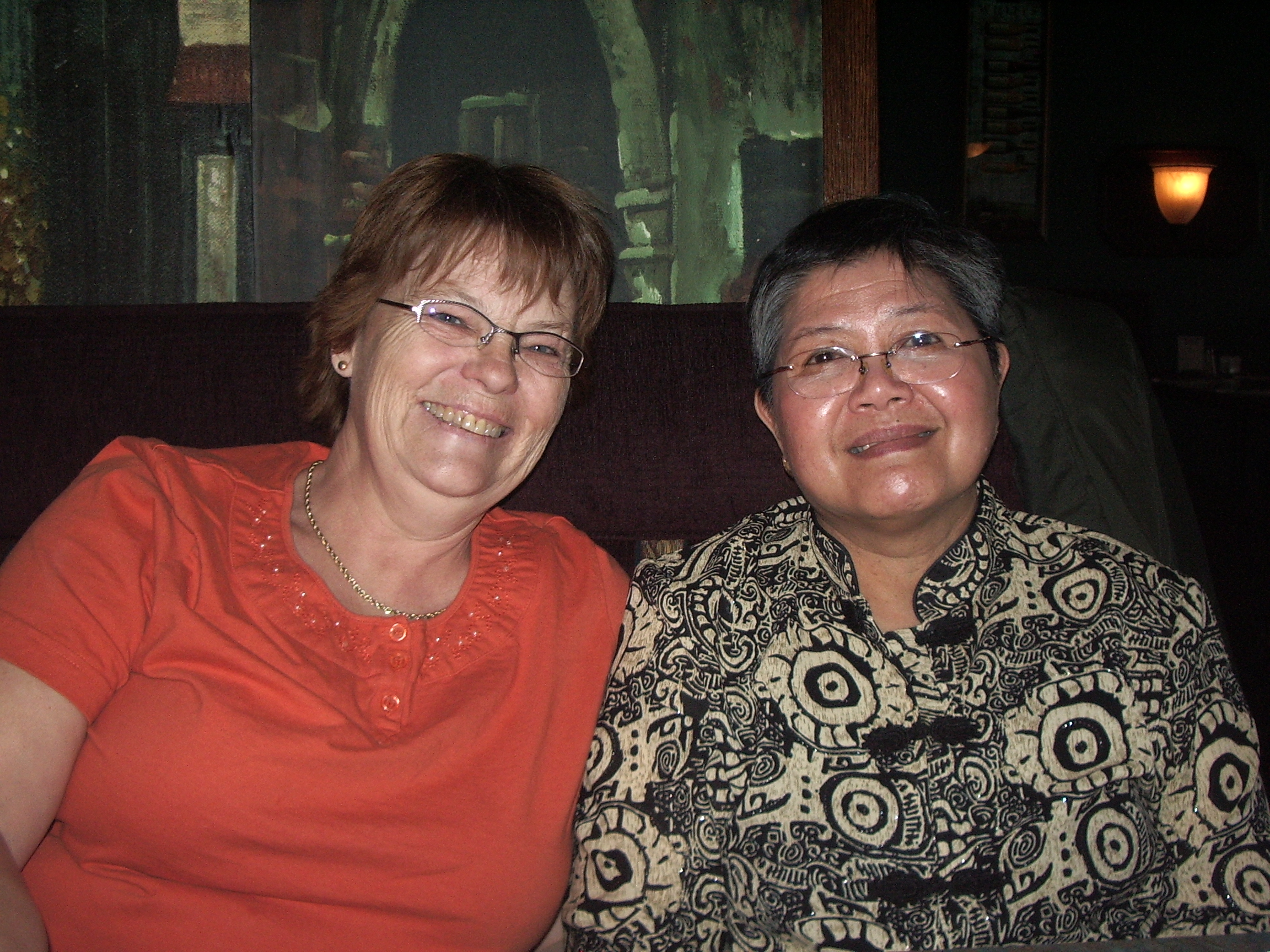 The  real-life   Pat Hackett and mom, 2007