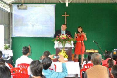 Preaching at Sunday Worship
