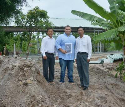 Finalizing the purchase of the land for the first Bible College in Southern Vietnam