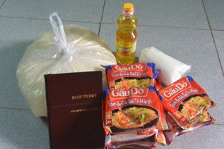 Christmas Care Package going to those in Central Vietnam impacted by the recent Typhoon.