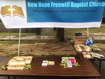 Easter outreach in Two Egg, FL