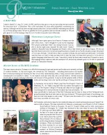 Read our Summer Fall 2014 Field Report here
