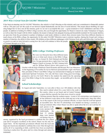 read our July-december 2015 field report here