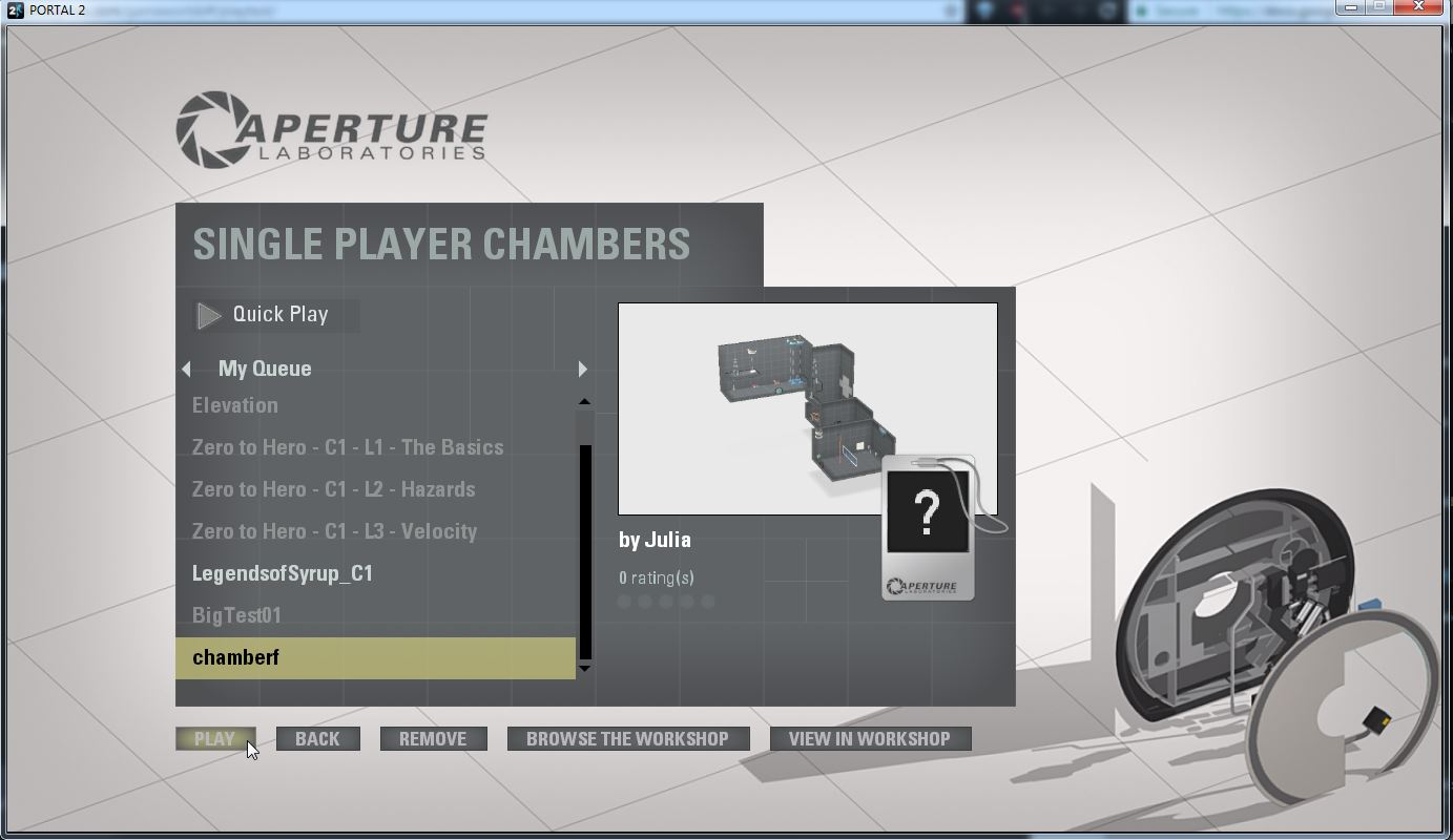 Step 7:  Select map and press 'Play'
